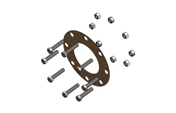 Exhaust Nut and Bolt Gasket Kits