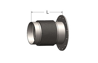 Bellows Connector, Female Half Coupling/ANSI Flange