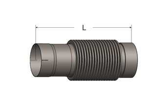 Bellows Connector, Slotted ID Cuff/Female NPT