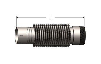 Bellows Connector, Slotted ID Cuff/Male NPT
