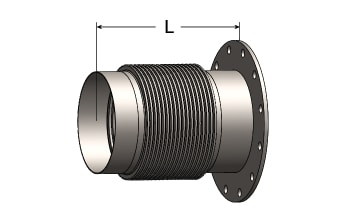 Exhaust Bellows Connector, Female Half Coupling/ANSI Flange