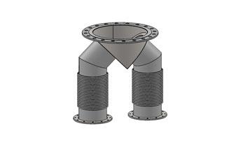 Exhaust WYE Connectors