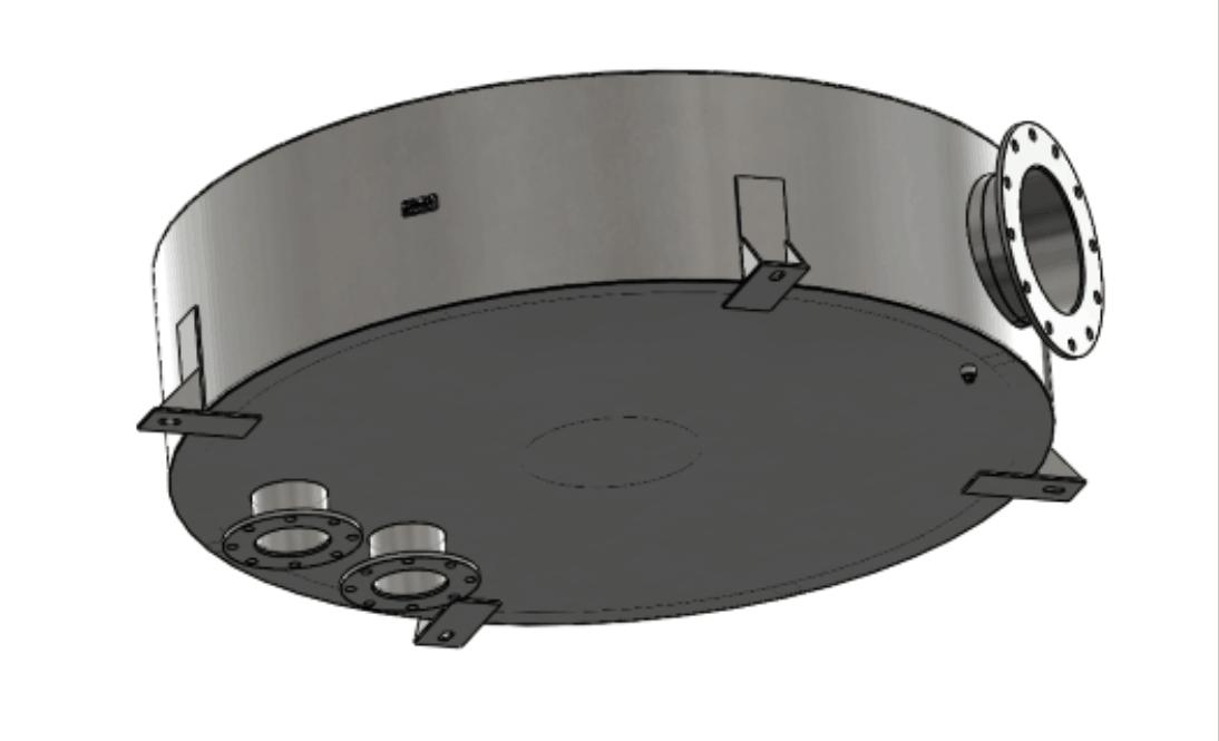 3-D Model of an exhaust silencer.