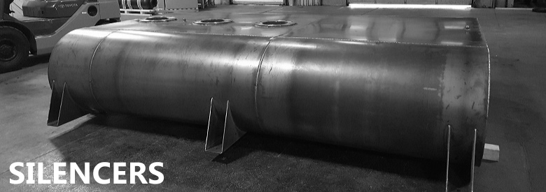 Large exhaust silencer.