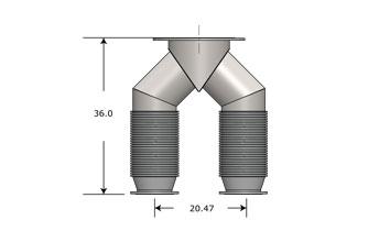 Exhaust Wye Connector 3508 B