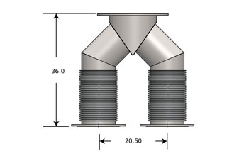Exhaust Wye Connector 3512 C