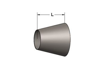 Exhaust Cone, Plain Both Ends