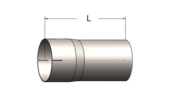 Exhaust Tube Fitting – Slotted ID Cuff/Plain