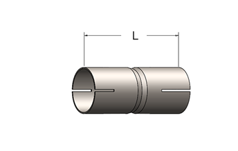Exhaust Tube Fitting – Slotted ID Cuff