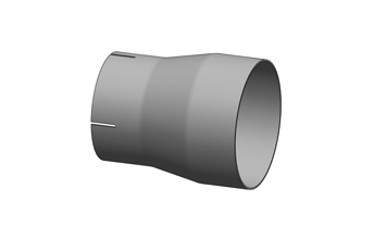 Exhaust Reducer/Expander – Slotted ID Cuff/Plain