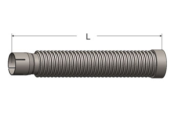Exhaust Flex Connector, Slotted ID Cuff/Female NPT
