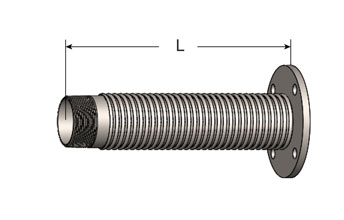 Exhaust Flex Connector, Male NPT/ANSI Flange