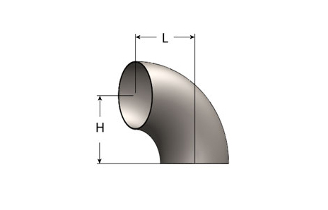 Exhaust Elbow – 90° Short Radius, Tangent Cut