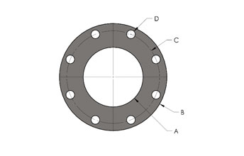 ANSI Pattern Exhaust Flange