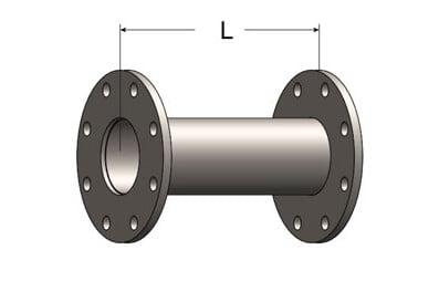 Outlet Extension with ANSI Pattern Flanges on Both Ends