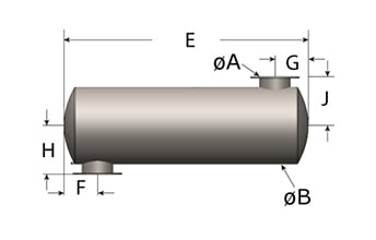 900R Cylindrical Series Silencer, Style 3